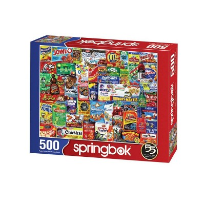 Springbok Spring and Summer: Looney Labels Puzzle 500pc