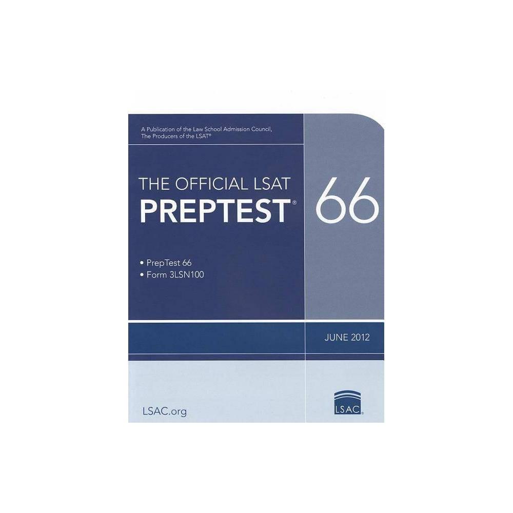The Official LSAT Preptest 66 - (Official LSAT PrepTest) (Paperback)