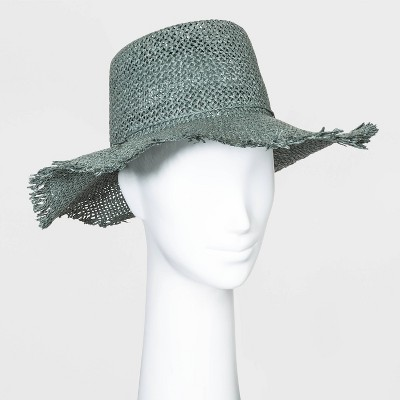 Women's Straw Boater Hats - Universal Thread™ Green One Size