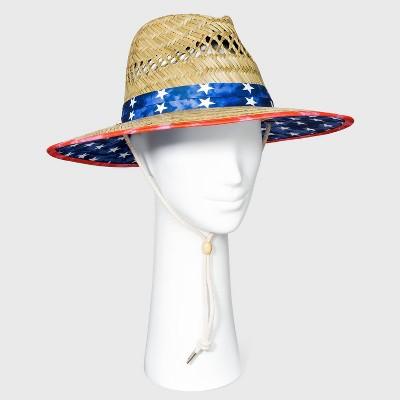 Adult Americana Straw Lifeguard Hat - Natural