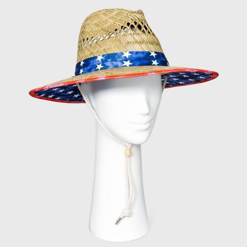 Adult Americana Straw Lifeguard Hat - Natural - image 1 of 2