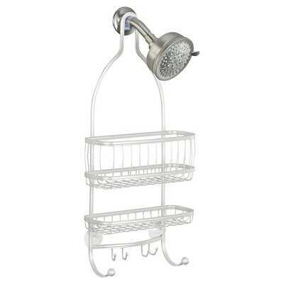 York Lyra Shower Caddy Pearl White - InterDesign
