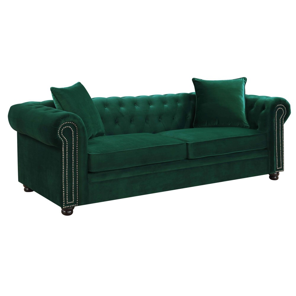 Image of 2pc Gramercy Tufted Living Room Set Emerald - Picket House Furnishings