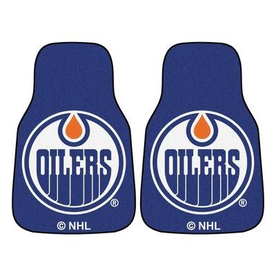 NHL Edmonton Oilers Carpet Car Mat Set - 2pc