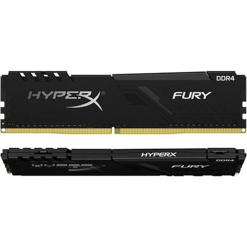 HyperX Fury 8GB DDR4 SDRAM Memory Module - For Desktop PC - 8 GB (2 x 4 GB) - DDR4-2400/PC4-19200 DDR4 SDRAM - CL15 - 1.20 V - Unbuffered - 288-pin - image 1 of 4