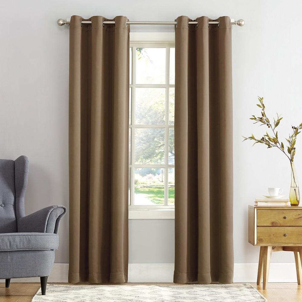 Kenneth Blackout Energy Efficient Grommet Curtain Panel Barley (Brown) 40