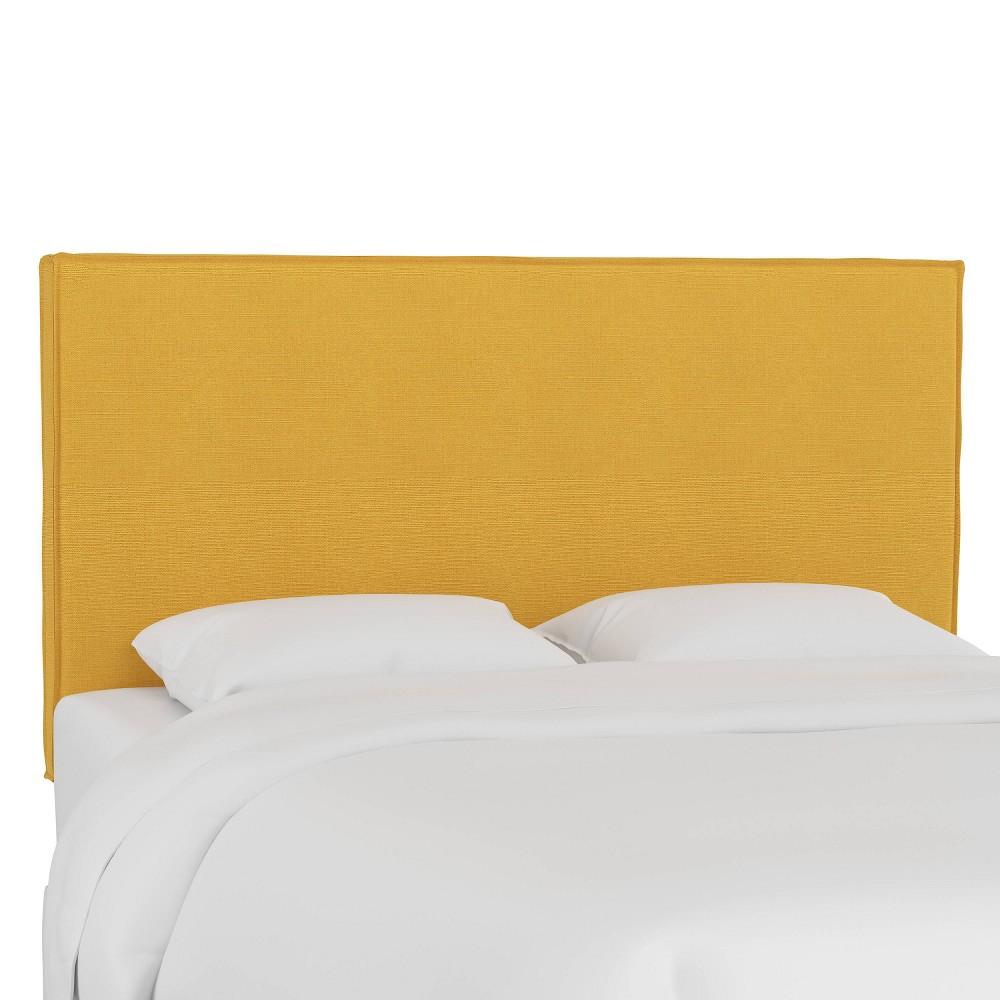 Full French Seam Slipcover Headboard Linen French Yellow Skyline Furniture