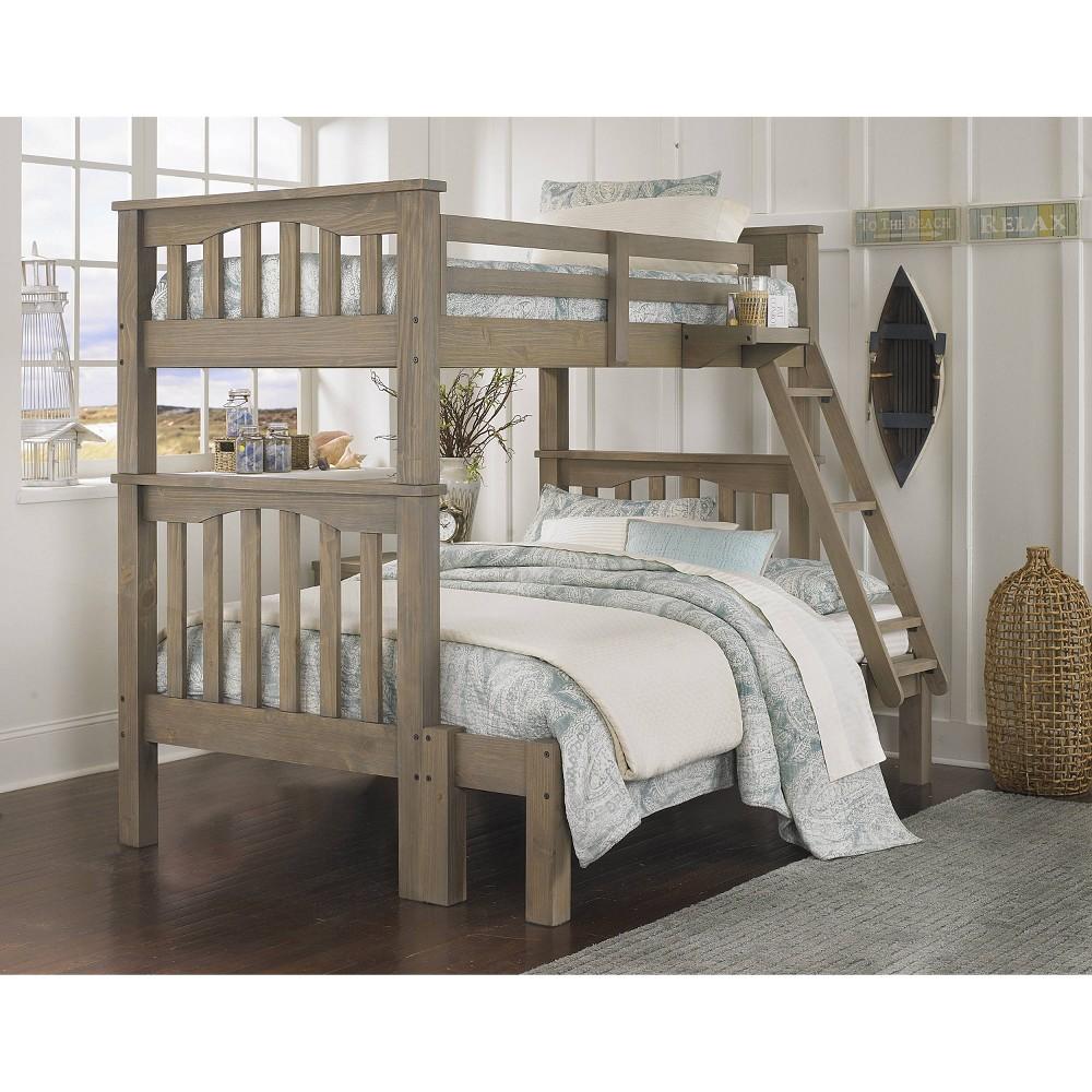 Image of Kids Twin Over Full Highlands Harper Bunk Bed Driftwood - Hillsdale Furniture