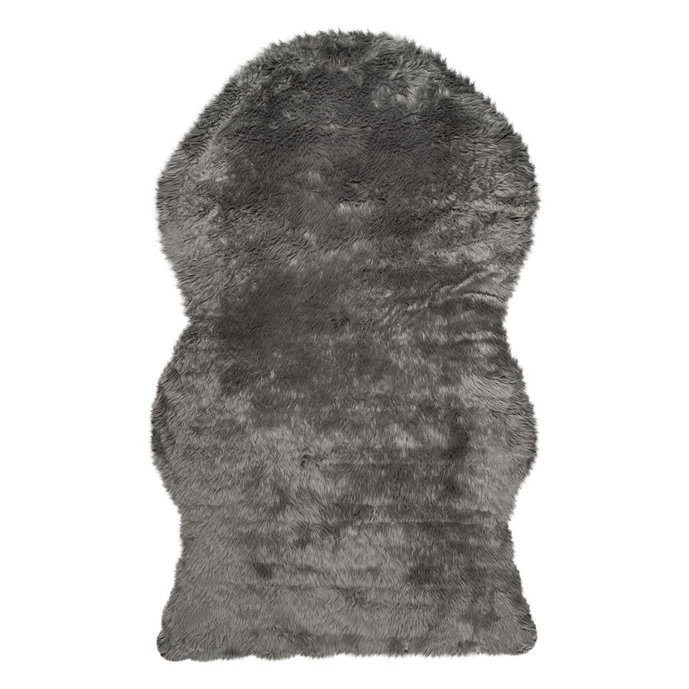 Haven Faux Sheepskin Area Rug - Gray (5'x8') - Safavieh