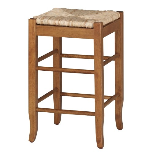 'Boraam Industries Rush Seat 29'' Barstool - Oak, Brown'