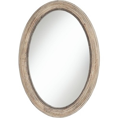 """Noble Park Zahra Wooden 23 1/2"""" x 34"""" Oval Wall Mirror"""