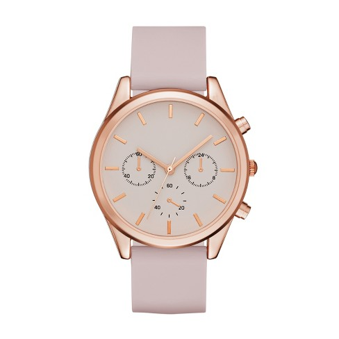 Women's Rubber Strap Watch - A New Day™ Rose Gold - image 1 of 1