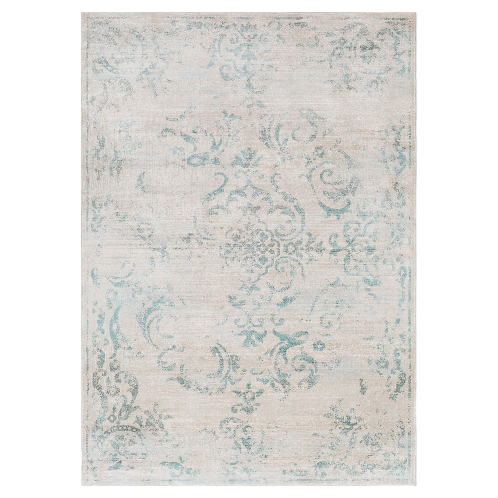 Sky Blue Botanical Tufted Area Rug - (8'X10') - Surya