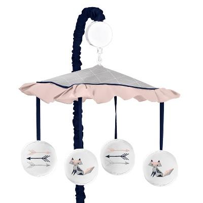 Sweet Jojo Designs Mobile - Fox Patch - Gray