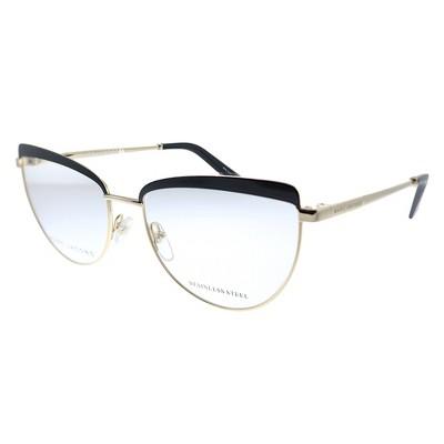 Marc Jacobs MARC 401 807 Womens Cat-Eye Eyeglasses Black Gold 55mm
