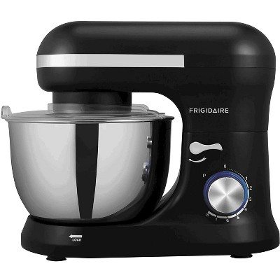Frigidaire ESTM020-BLACK 8 Speed Standing Electric Kitchen Mixer with 4.5 Liter Stainless Steel Mixing Bowl, Dough Hooks, and Mixer Beaters, Black