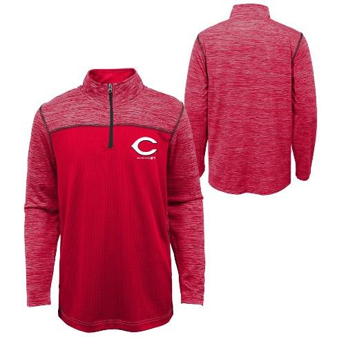MLB Cincinnati Reds Boys' In the Game 1/4 Zip Sweatshirt - image 1 of 3