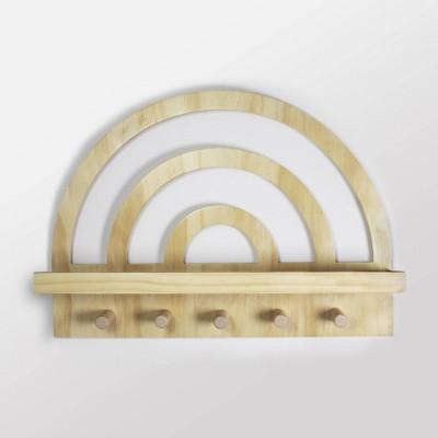 Rainbow Wooden Shelf Natural Wood - Cloud Island™