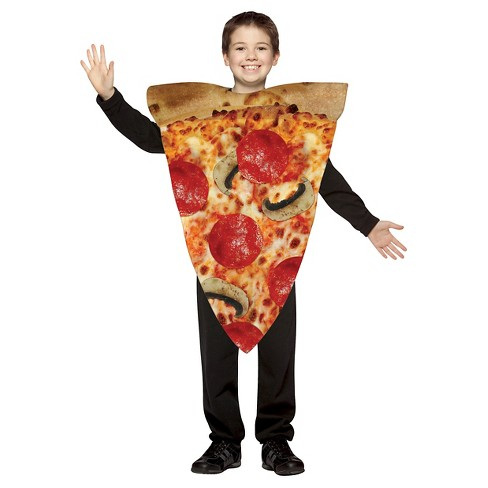 Kid's Get Real Pizza Slice Costume Tan/Red - M(8-10) - image 1 of 1