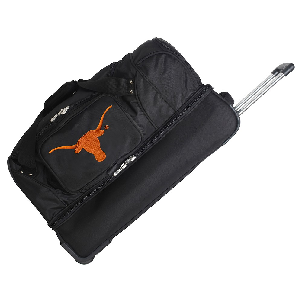 NCAA Texas Longhorns 27'' Rolling Drop Bottom Duffel Bag