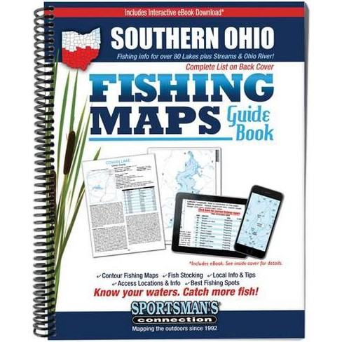 Southern Ohio Fishing Maps Guide Book (Paperback) : Target