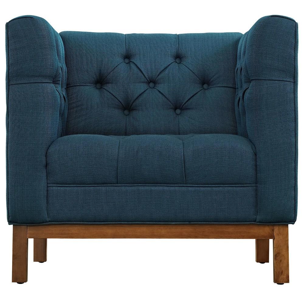 Panache Upholstered Fabric Armchair Azure (Blue) - Modway