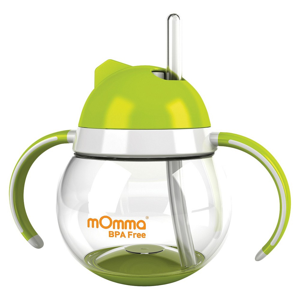 Image of mOmma Straw Sippy Cup with Dual Handles - Green