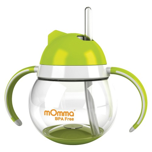 mOmma Straw Sippy Cup with Dual Handles - Green