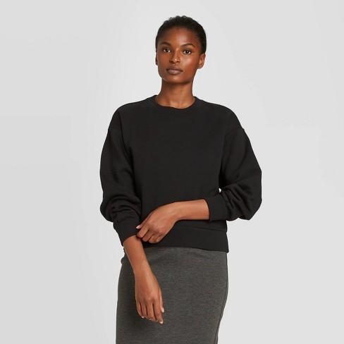 Women's Crewneck Sweatshirt - Prologue™ Black - image 1 of 3