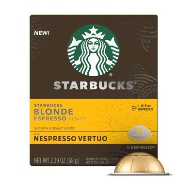 Starbucks Nespresso Vertuo Blonde Espresso Light Roast Coffee - 2.39oz/10ct