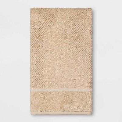 Performance Texture Bath Towel Bare Canvas Tan - Threshold™