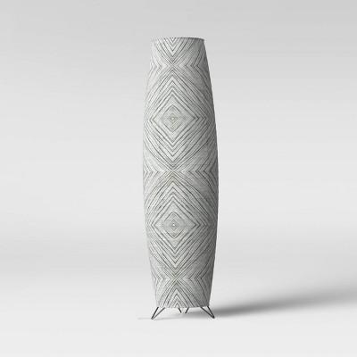 Paper Floor Lamp Black - Room Essentials™
