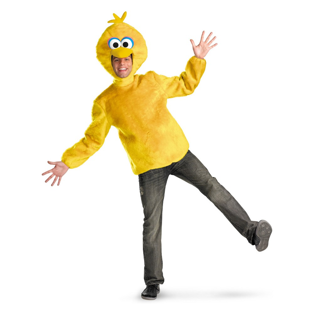 Men's Sesame Street Big Bird Halloween Costume XL, Yellow