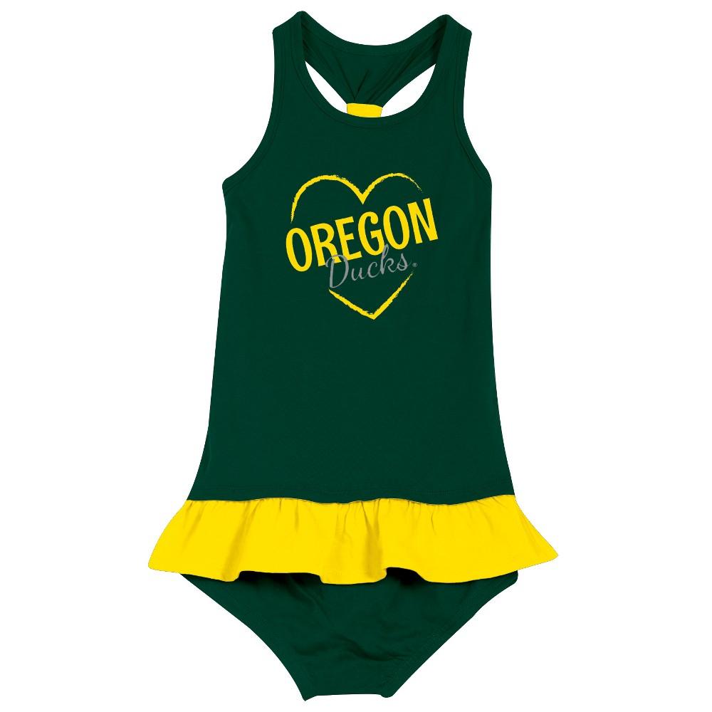 Oregon Ducks After Her Heart Toddler Dress 2T, Toddler Girl's, Multicolored