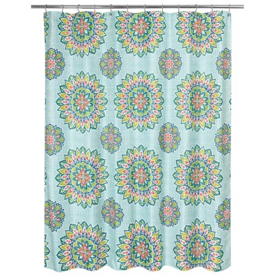 Ariel Medallion Shower Curtain Green - Allure Home Creation