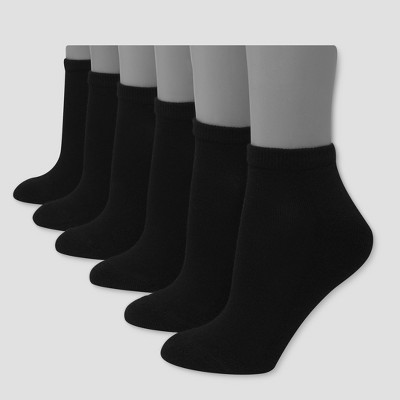 Hanes Premium 6 Pack Women's Cushioned Low Cut Socks