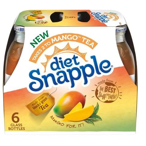 Snapple Diet Mango - 6pk/16 fl oz Bottles - image 1 of 3