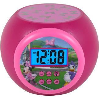 Mickey Mouse & Friends Minnie Mouse LCD Projecting Alarm Clock