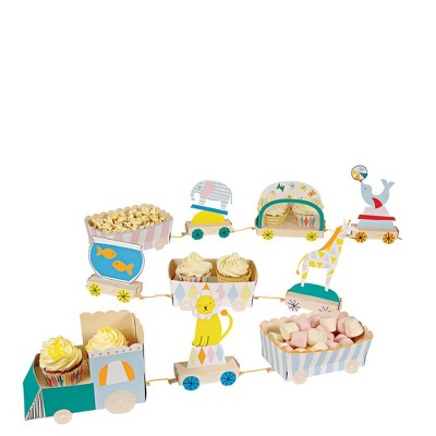 """Meri Meri Silly Circus Train Centerpiece – Party Decorations and Accessories – 55"""" x 6"""" x 4"""""""