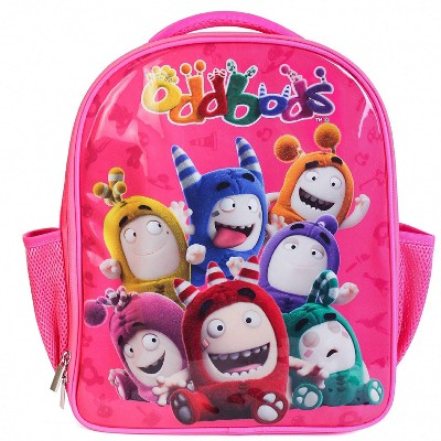 Oddbods Pink Backpack for Kids' School & Travel - Small, Insulated Children's Bookbag for Preschool, Kindergarten & Elementary School, Room for Lunchbox, Notebooks & More, Includes Two Side Pockets