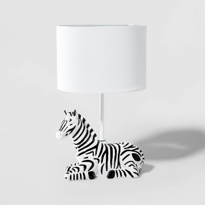 Zebra Figural Lamp Black - Pillowfort™