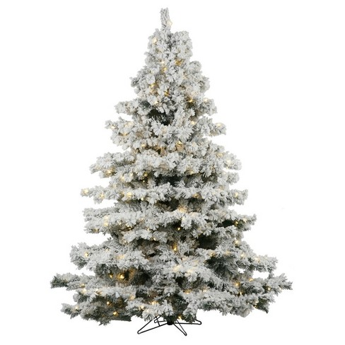 3ft flocked alaskan pine artificial christmas tree slim with white led lights