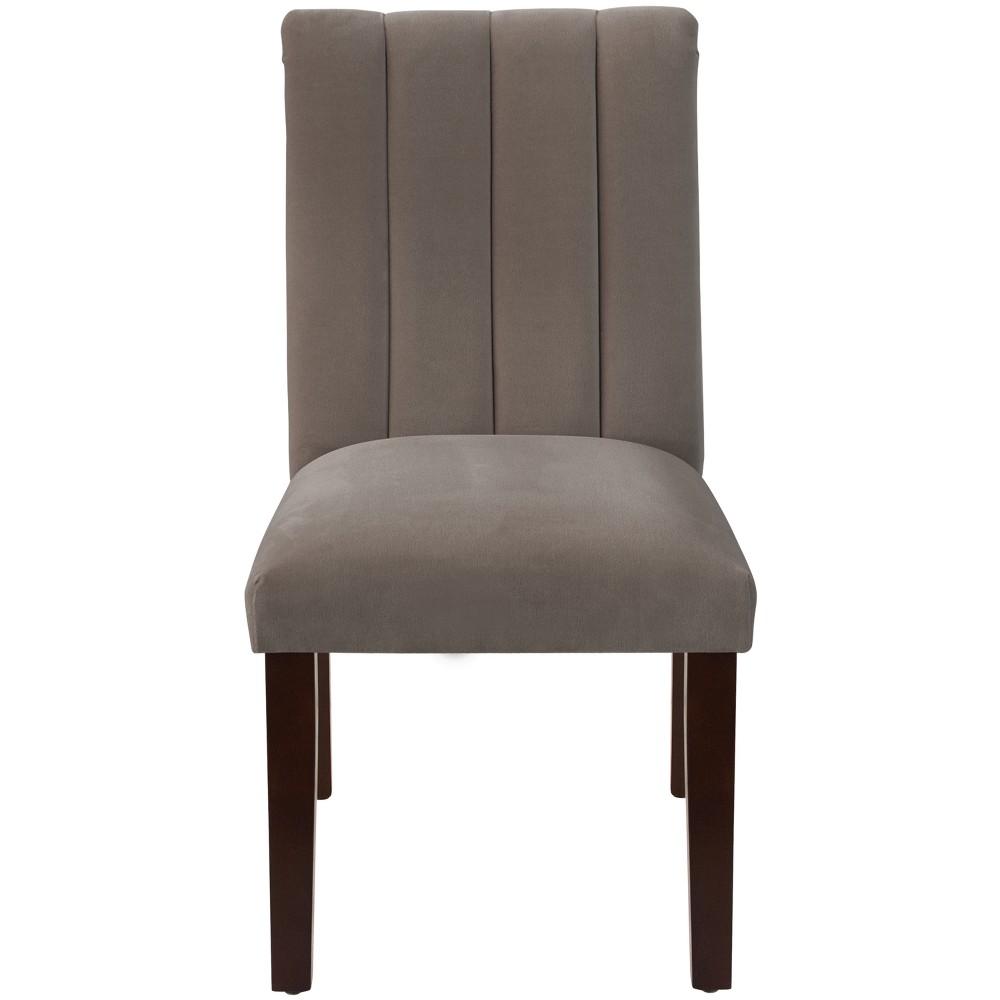 Channel Seam Dining Chair Regal Smoke - Skyline Furniture