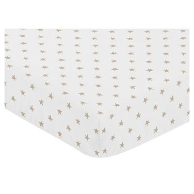 Sweet Jojo Designs Fitted Crib Sheet - Celestial/Star - Pink/Gold