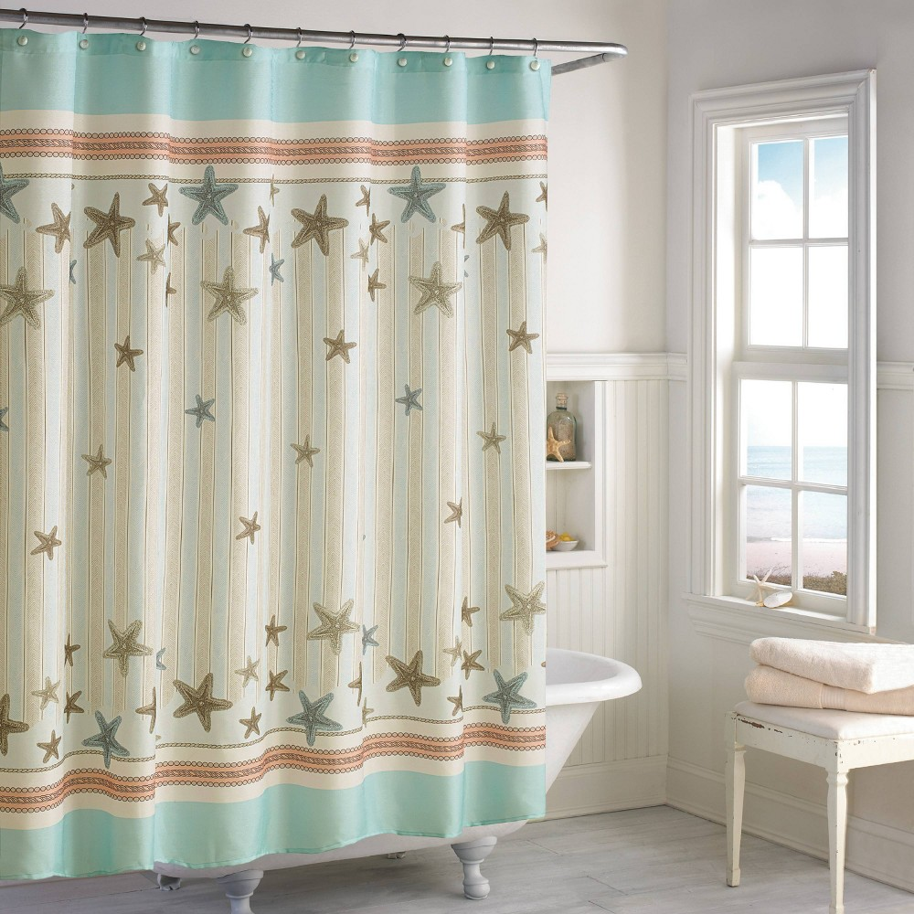 Image of Tremiti Shower Curtain Off-White - Destinations