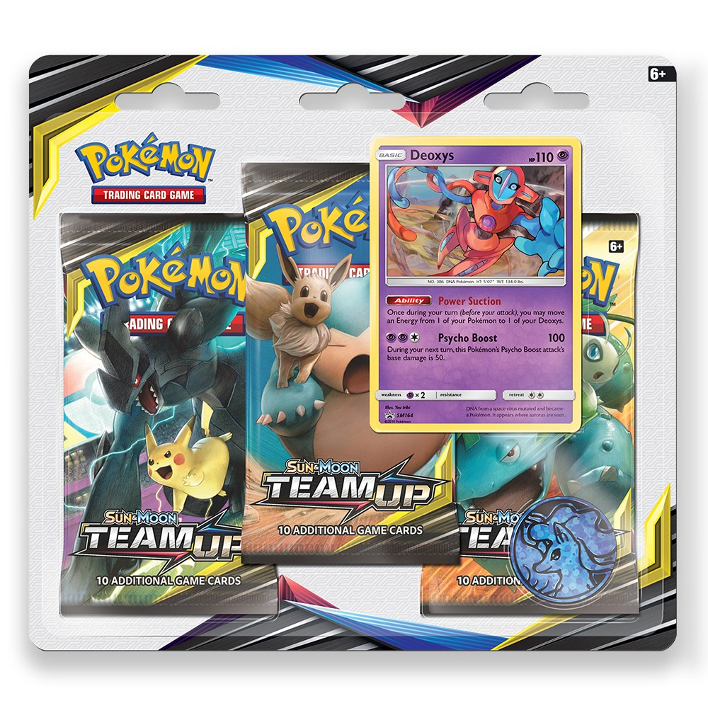 Pokemon Trading Card Game Sun & Moon Team Up S9 3pk featuring Deoxys