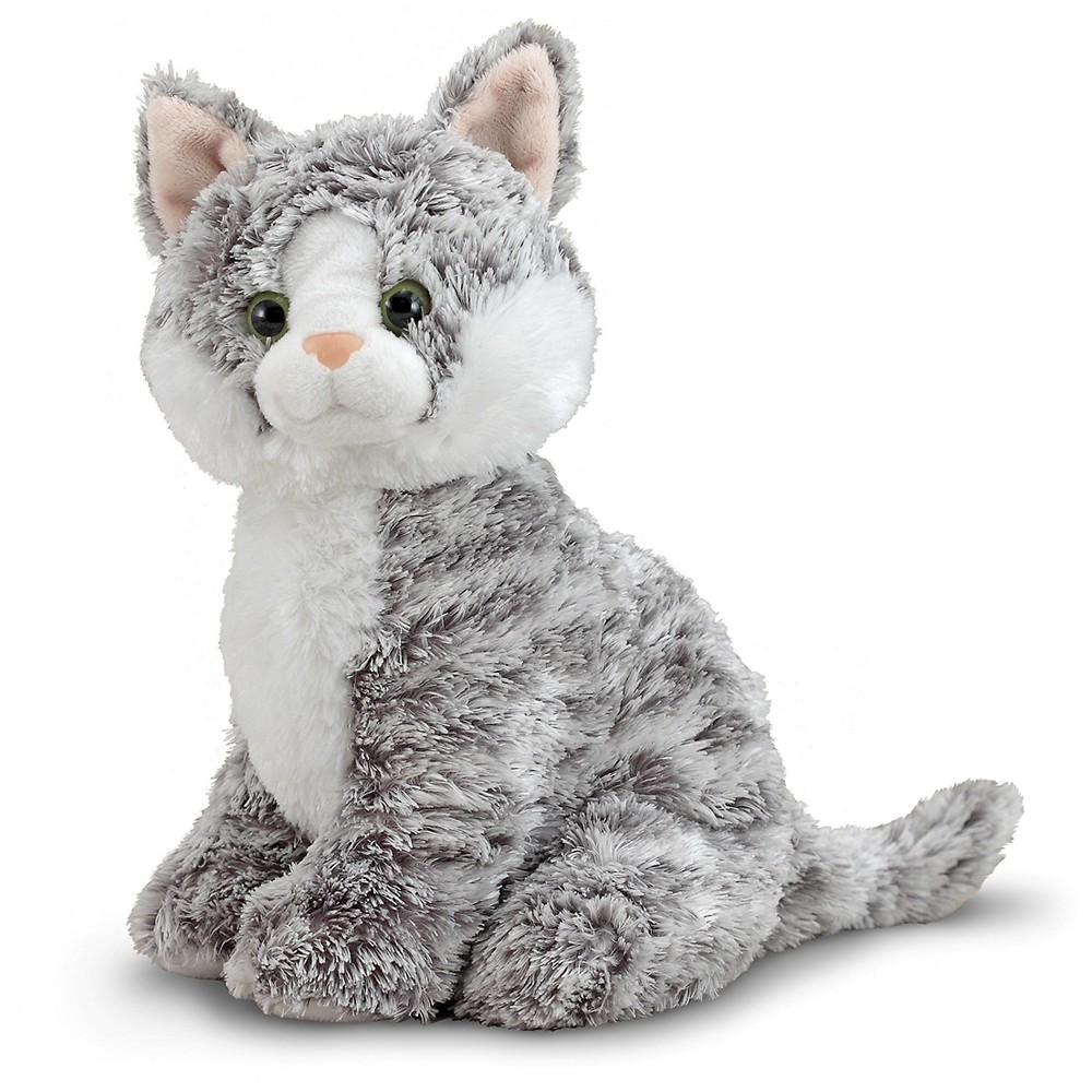 Melissa & Doug Greycie Tabby Cat Stuffed Animal