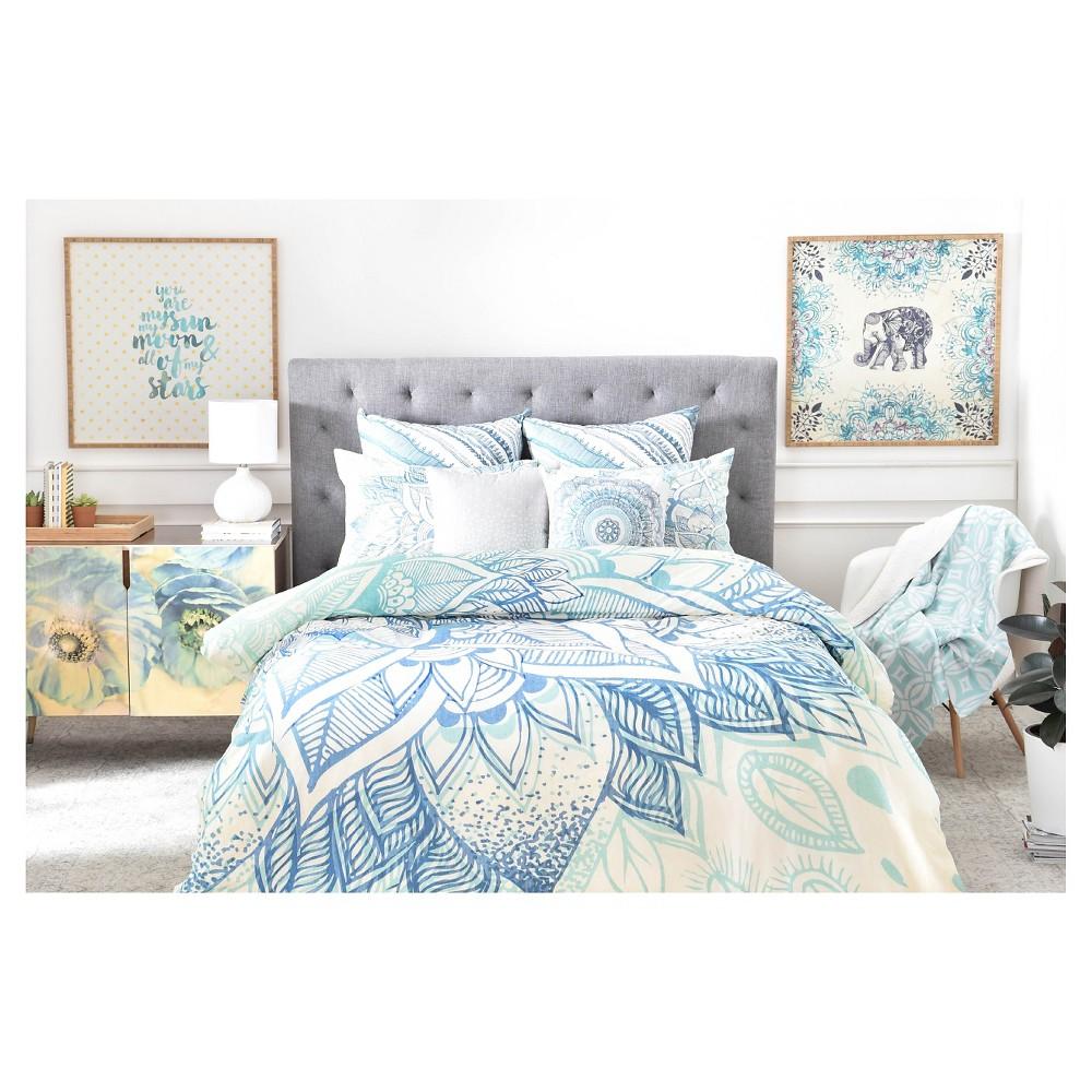 Rosebudstudio Lovely Soul Floral Duvet Cover Queen Blue Floral Deny Designs