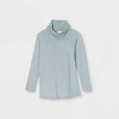 Maternity Long Sleeve Cowl Neck Cozy Rib T-Shirt - Isabel Maternity by Ingrid & Isabel™