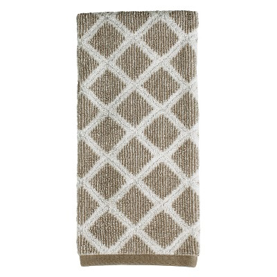 Davidson Diamonds Hand Towel Dark Taupe - Saturday Knight Ltd.